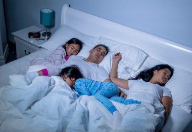 cosleeping, family sleeping, fam frenzy