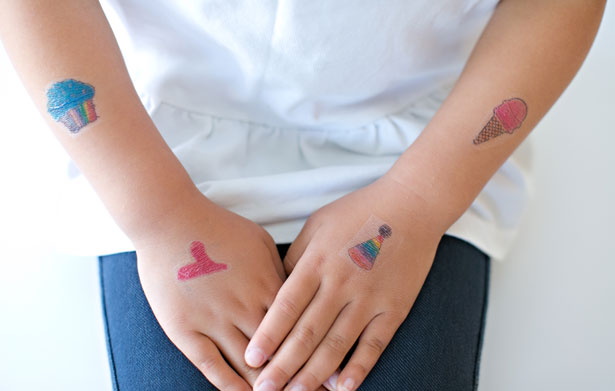 temporary kids tattoo