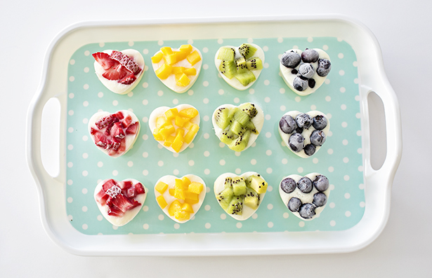 rainbow yogurt fruit snack
